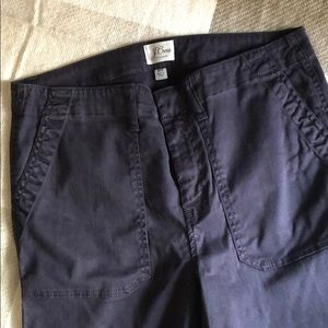 J. Crew navy blue skinny chinos